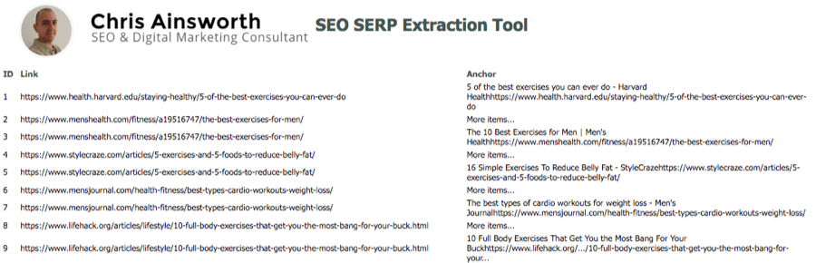 serp extraction