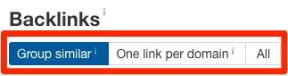 backlinks grouping toggle