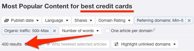 best credit cards content explorer