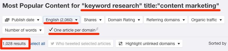 content marketing content explorer search