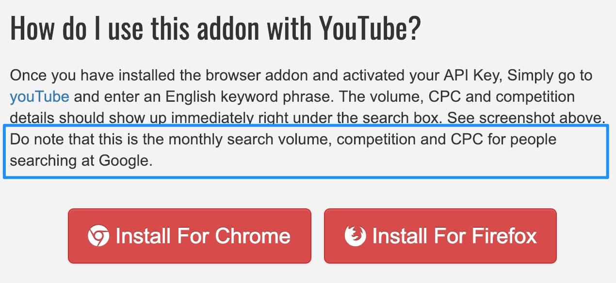 keywords everywhere search volume description 2