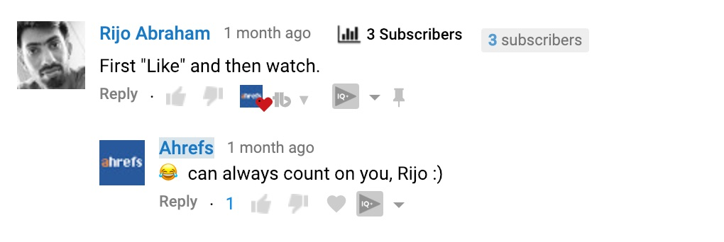 youtube comment from fan 2