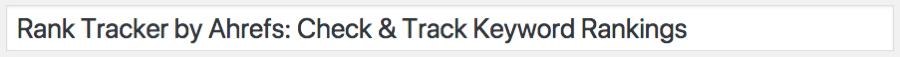rank tracker title tag new