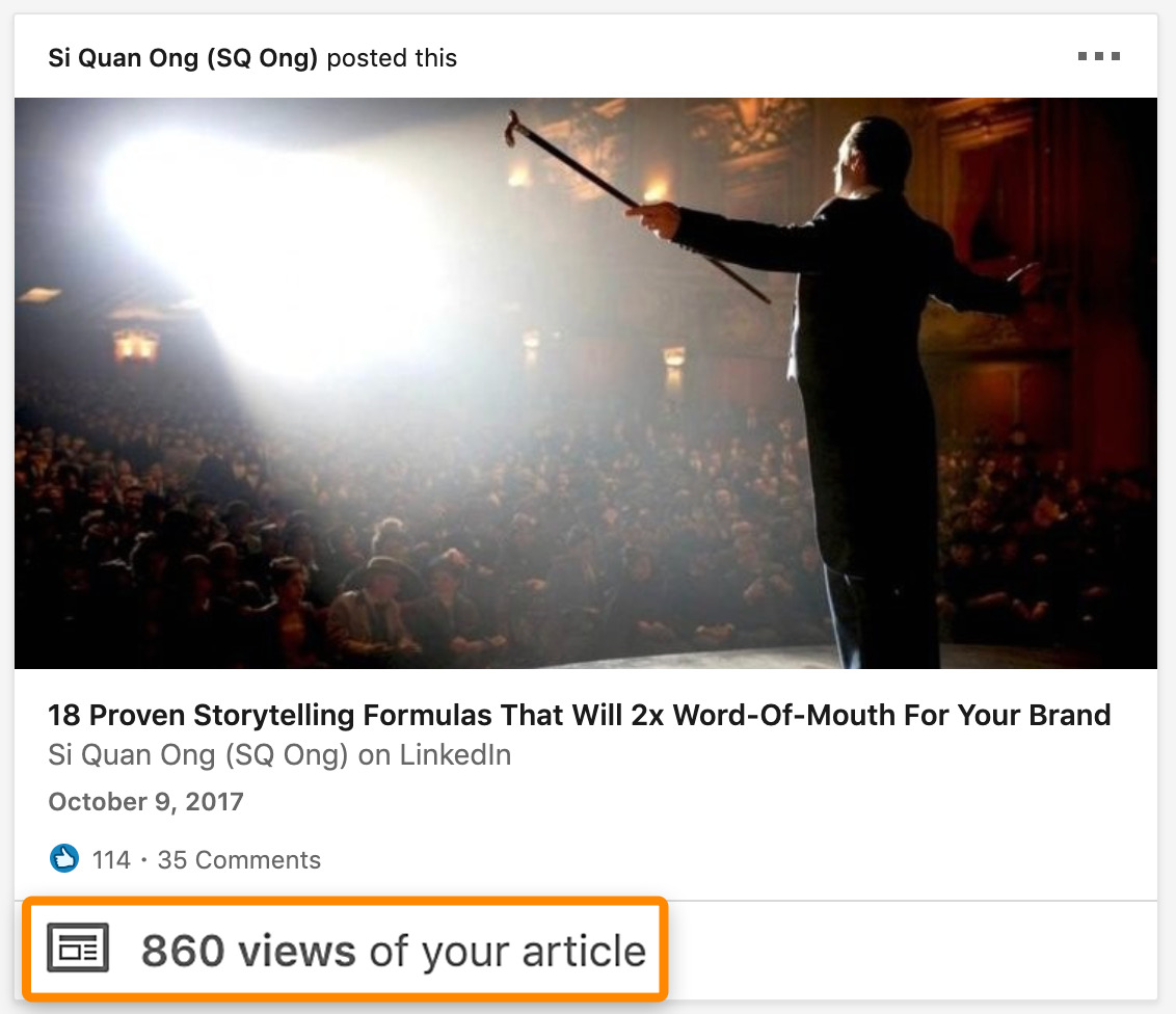 9 linked post views
