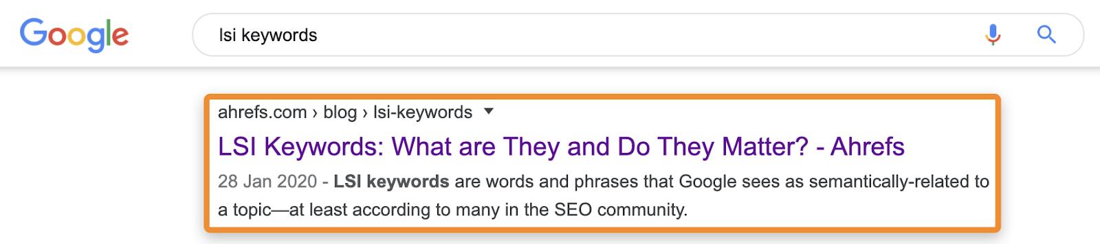 5 lsi keywords