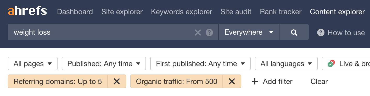 12 content explorer filters