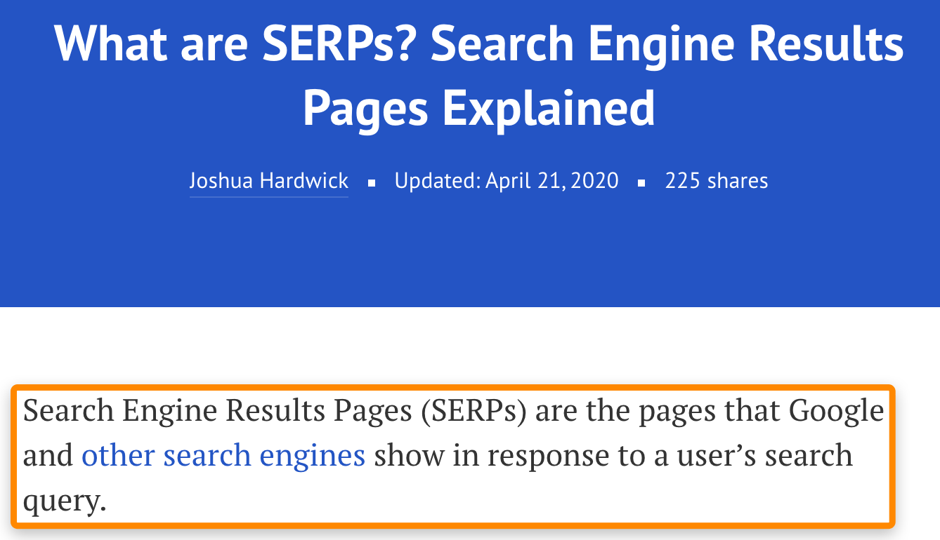 21 what are serps