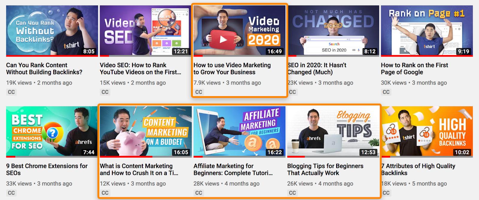 4 ahrefs youtube videos