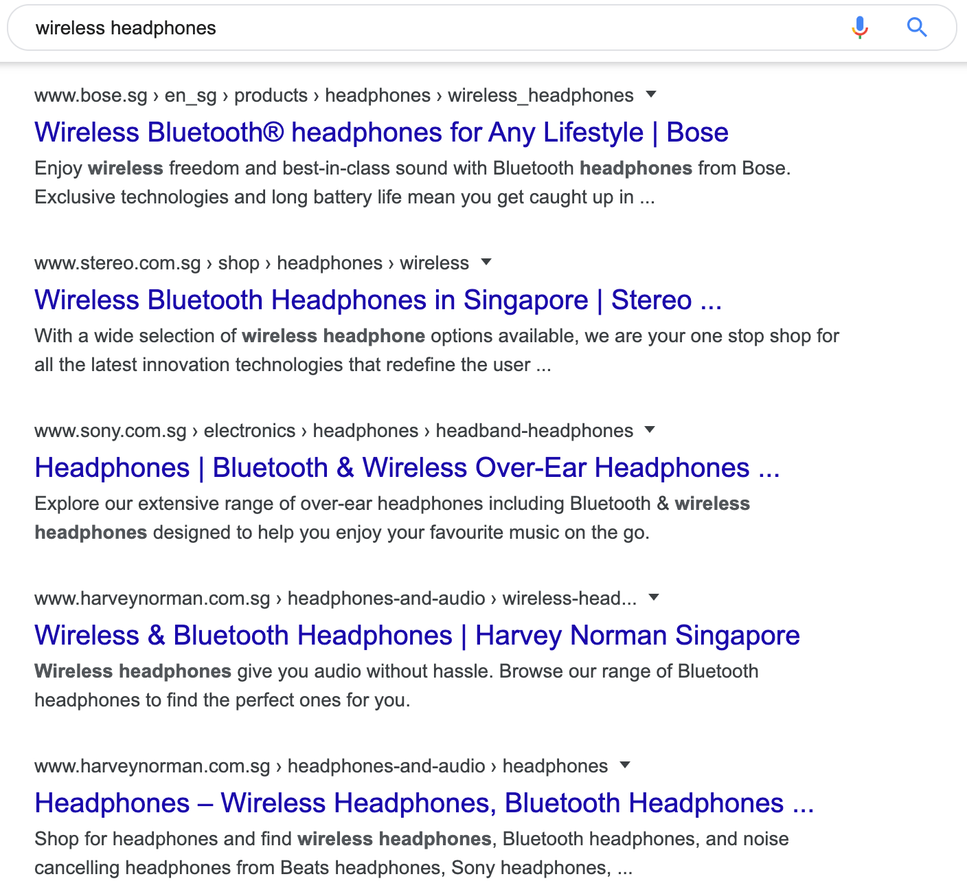 6 wireless headphones serp