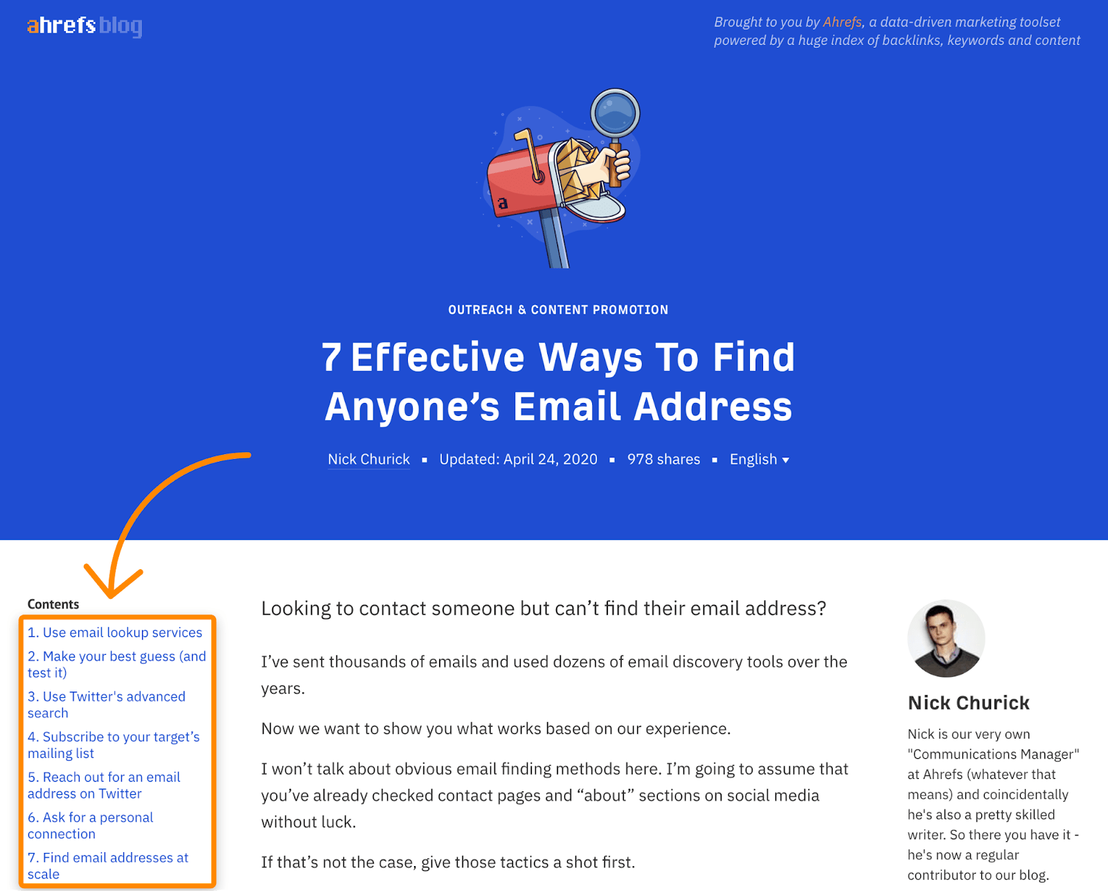 1 find email address title