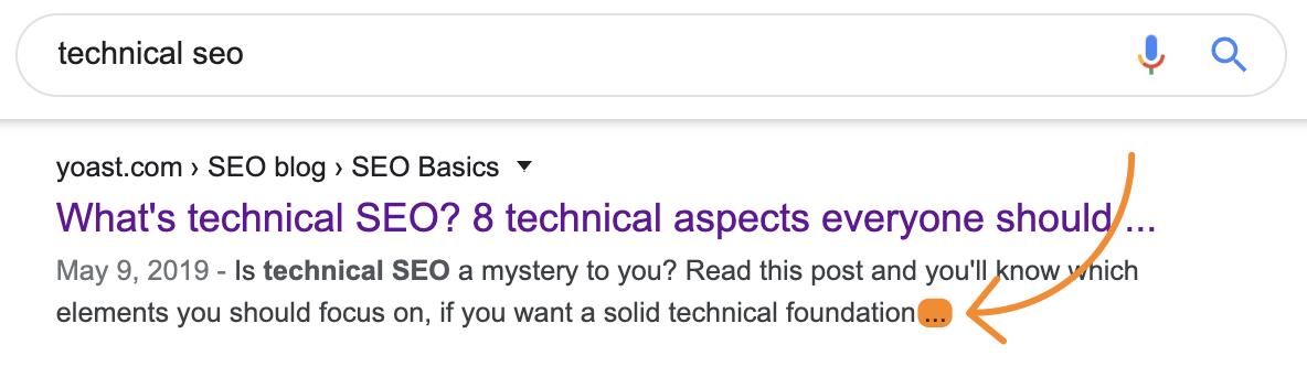 2 truncated meta description