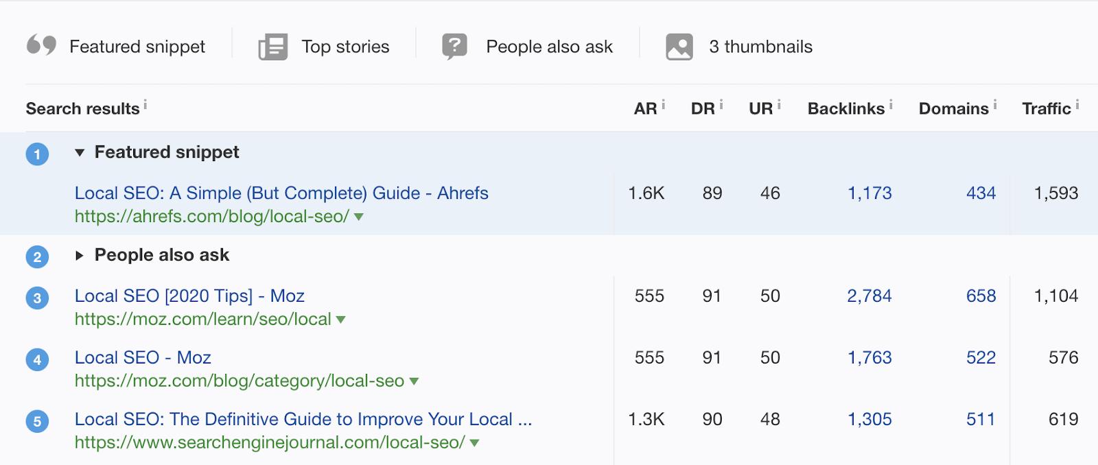 8 local seo ranking