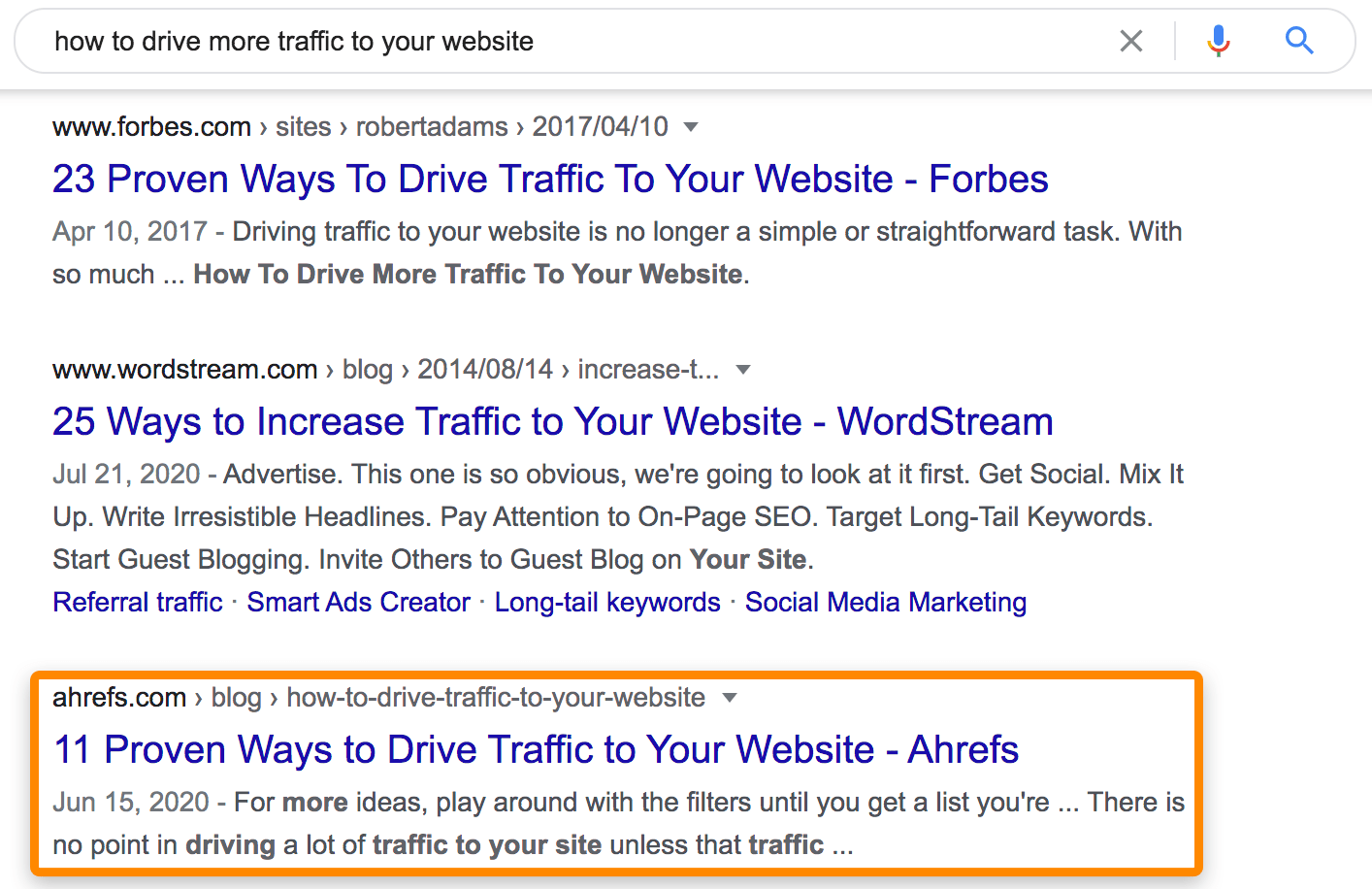 1 google search results
