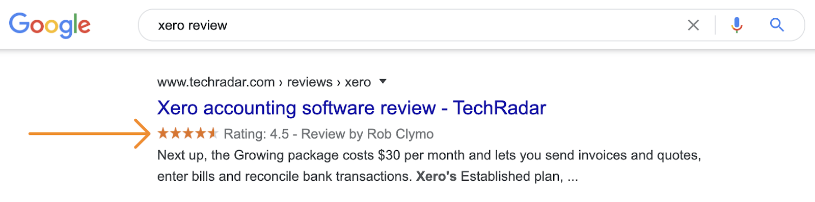 15 xero review rich snippets