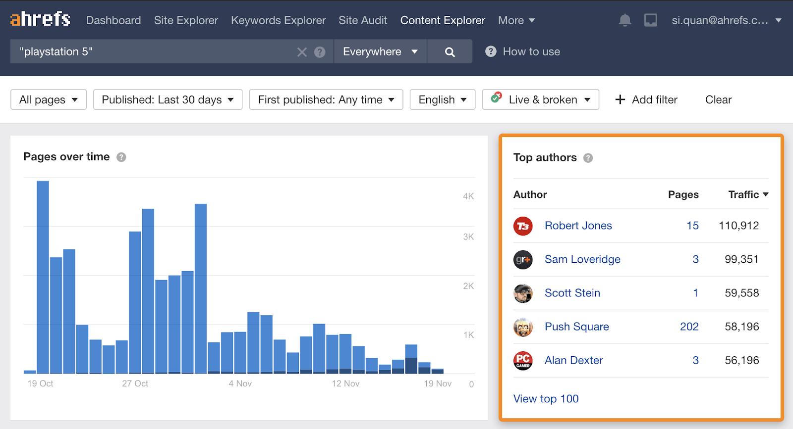 3 Content Explorer