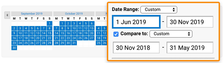 3 date range analytics