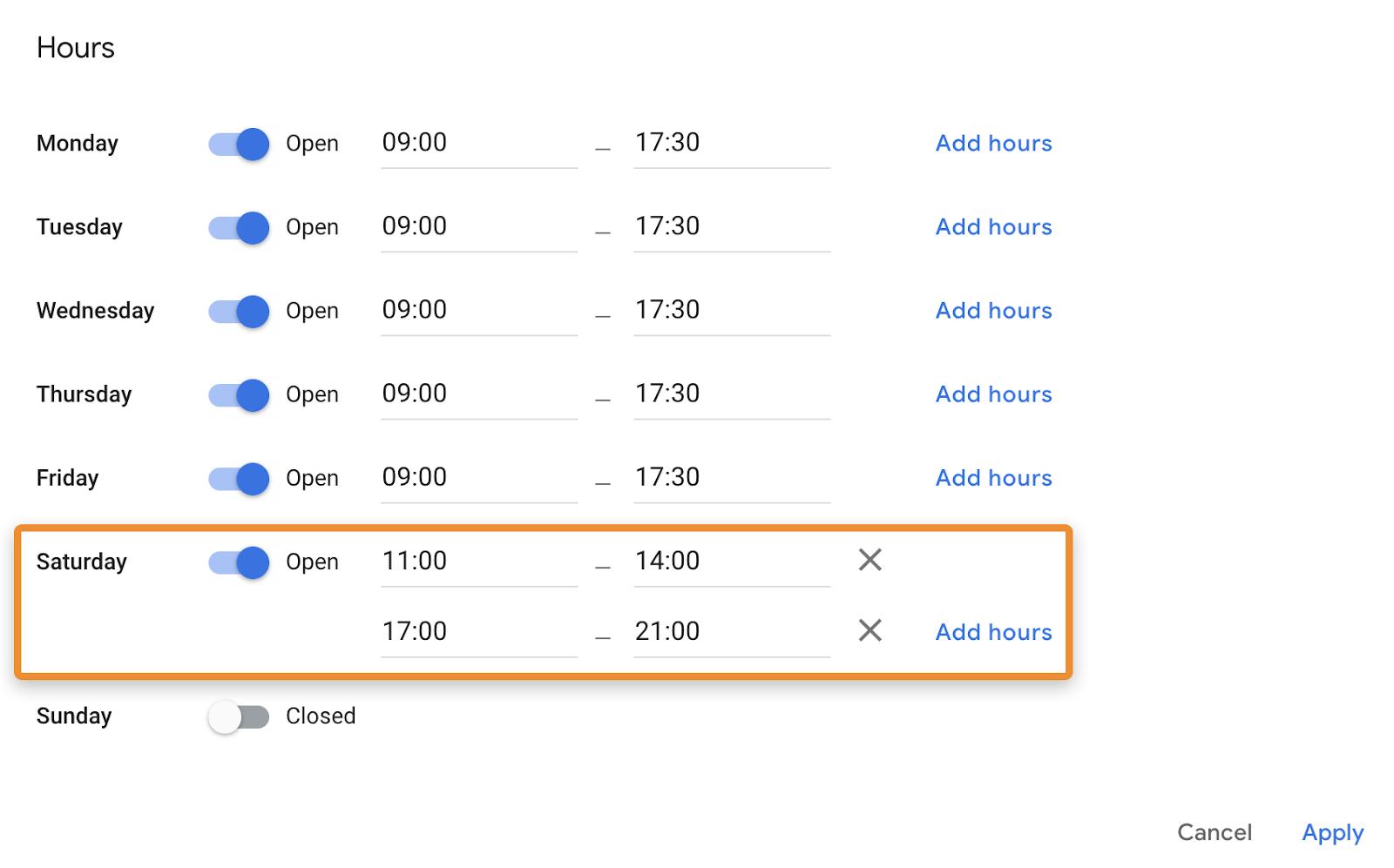 8 add hours 1