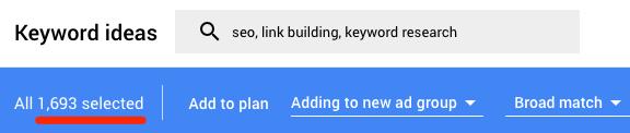 1 2k keywords