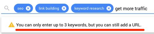 more than three kw keywords planner