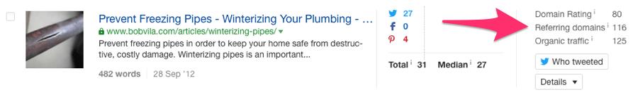 pliumbing referring domains