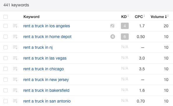 rent a truck in