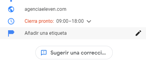 sugerir correcion google my business