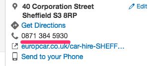 yelp listing europcar