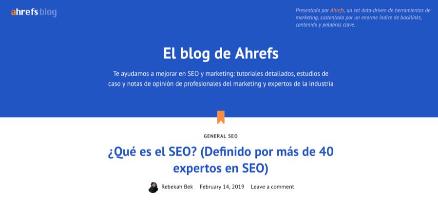 ahrefs spanish blog