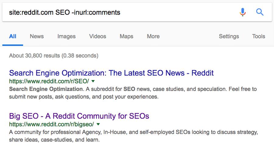 subreddits search