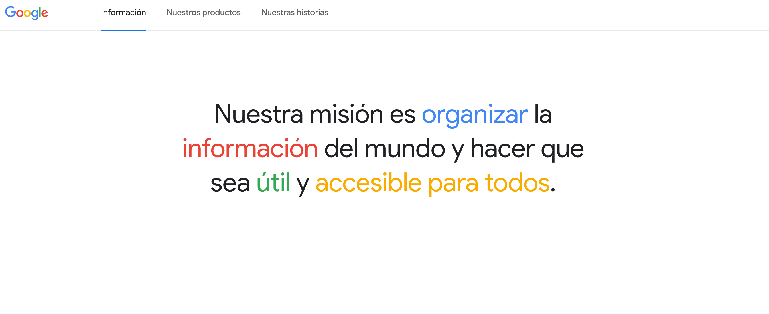 La misión de Google