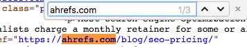 ahrefs source code search