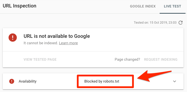 blocked by robots txt