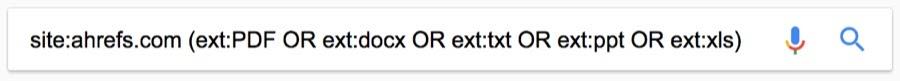 filetype operator all types