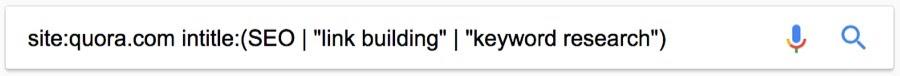 find quora threads google operator