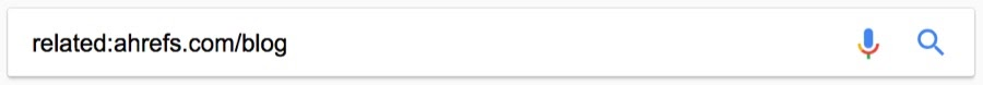 related google search operator