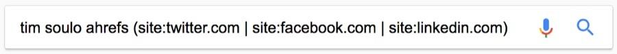 tim soulo google search social profiles