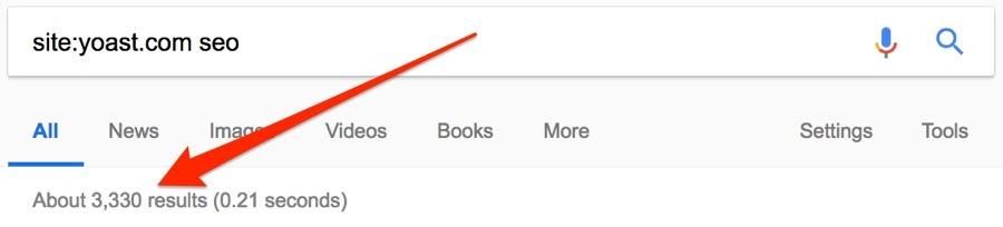 yoast site niche search