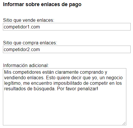 Google Reporte Links 1