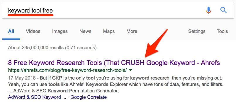 keyword tool free
