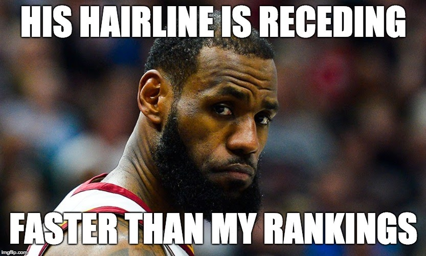 lebron hairline