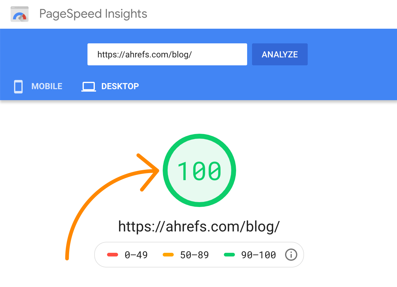 2 pagespeed insights