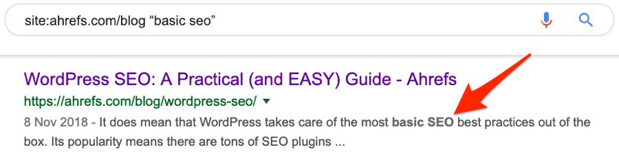 seo basics google search