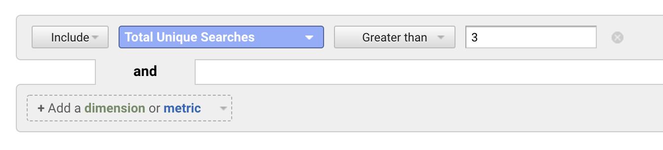 internal search filter