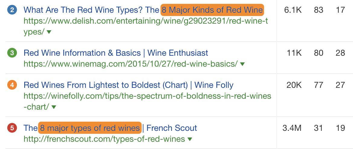 11 types of wine types
