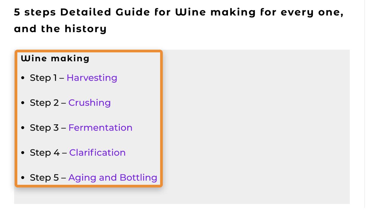 13 wine making steps