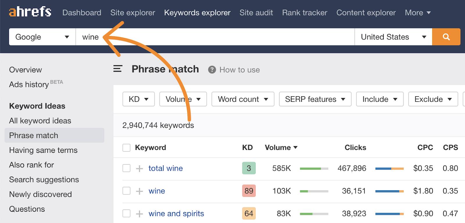 5 keywords explorer search hub page topic