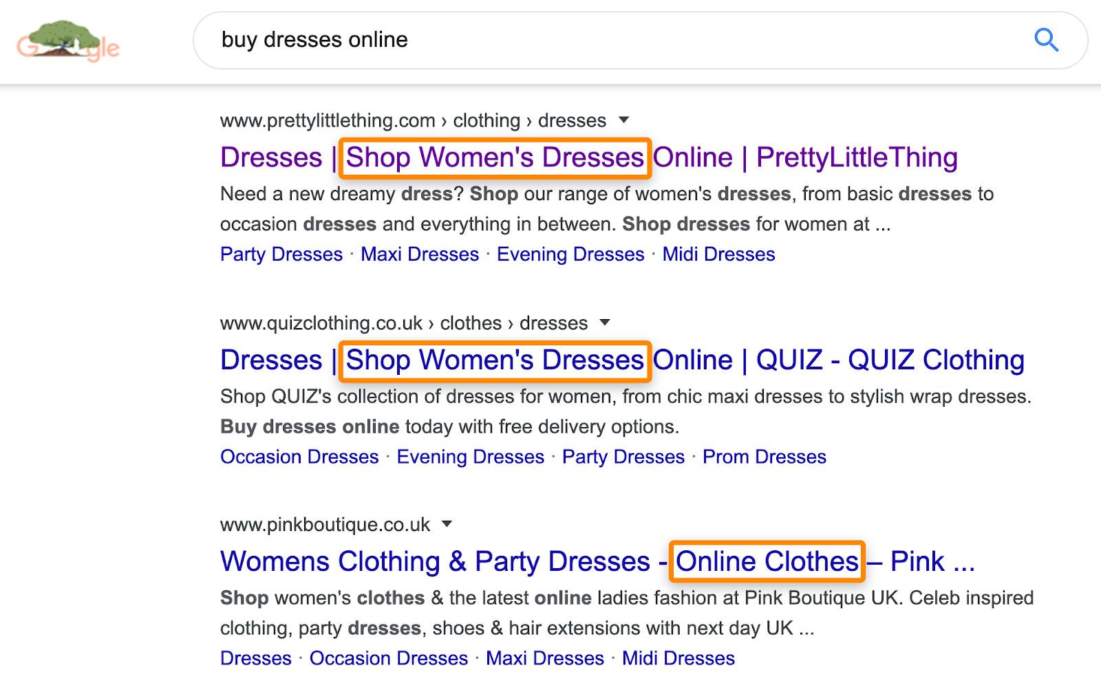 7 serp buy dresses online
