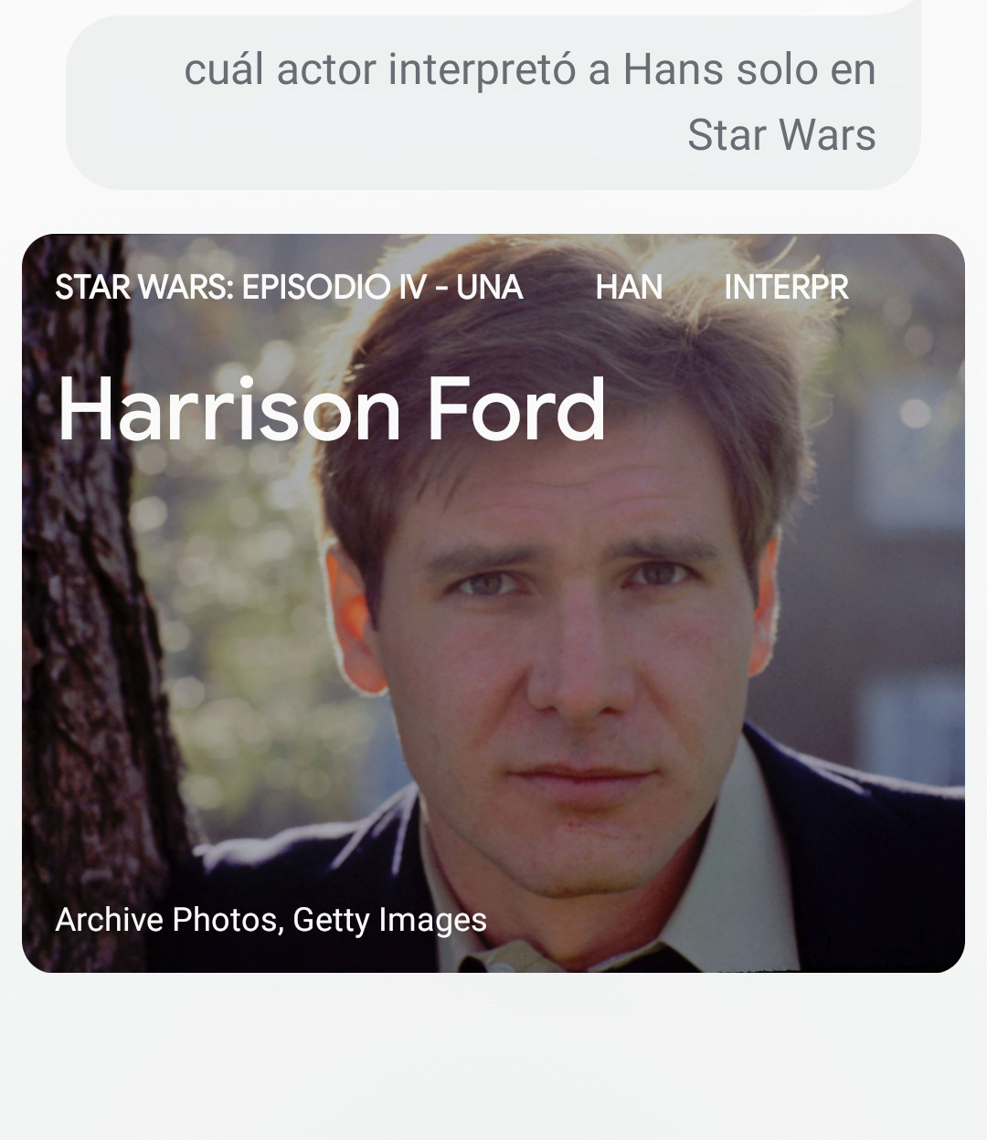 Harrison Ford Hans Solo