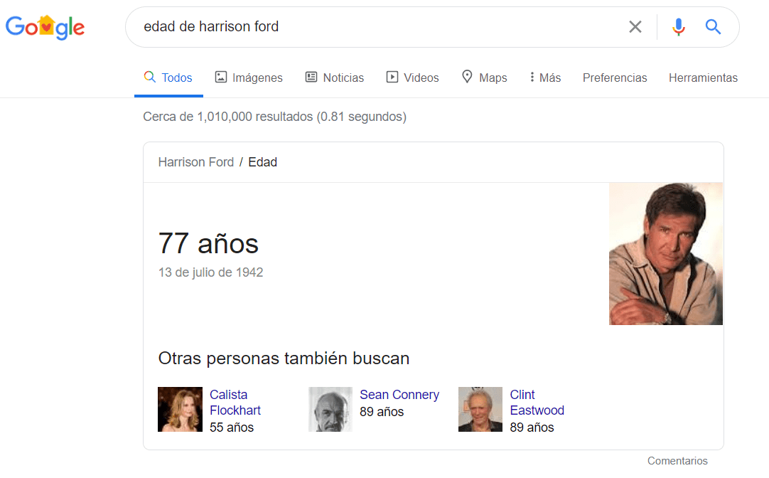 Knowledge Graph Harrison Ford