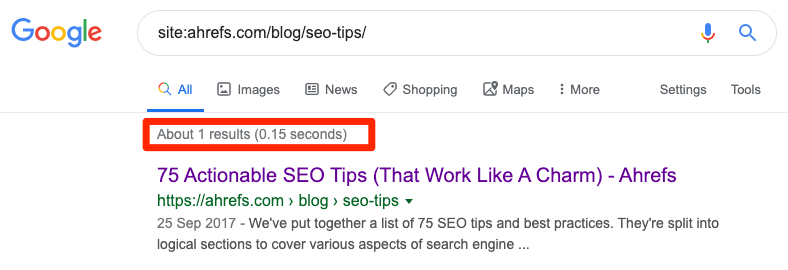 site search page